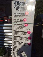 Piggie Smalls menu, Sausage and Beer Festival, Jimmy's Farm