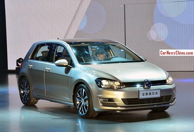 Цена Volkswagen Golf VII в Китае от 121 900 юаней