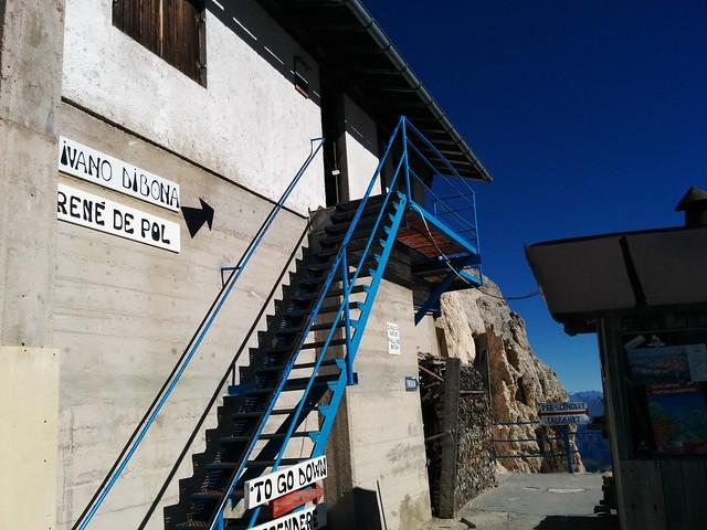 Einstieg Ivano Dibona Klettersteig