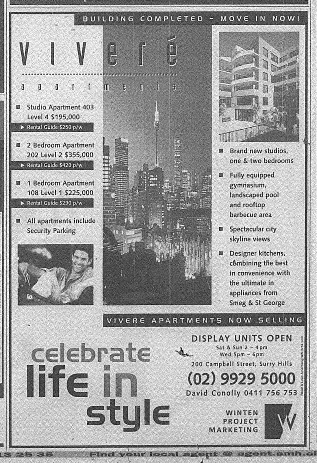 Vivere Apartments Surry Hills SMH May 2 1998 22RE