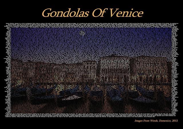 Gondolas Of Venice A1 Print