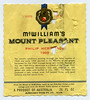 McWilliams Mount Pleasant label (1969)