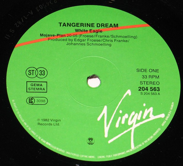 """Tangerine Dream White Eagle 12"""" vinyl LP"""