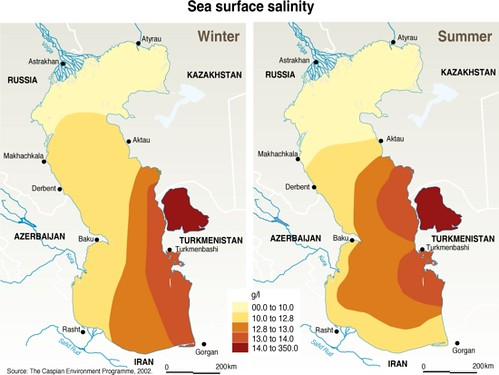 Caspian Sea Salinity Grid Arendal