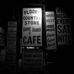 signs of Texas #blackandwhitephotography #monochromephoto #monochrome #bwphotography #signs #floorescountrystore #helotes