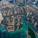 Dubai Fountain from Top of Burj Khalifa by Cherryrig