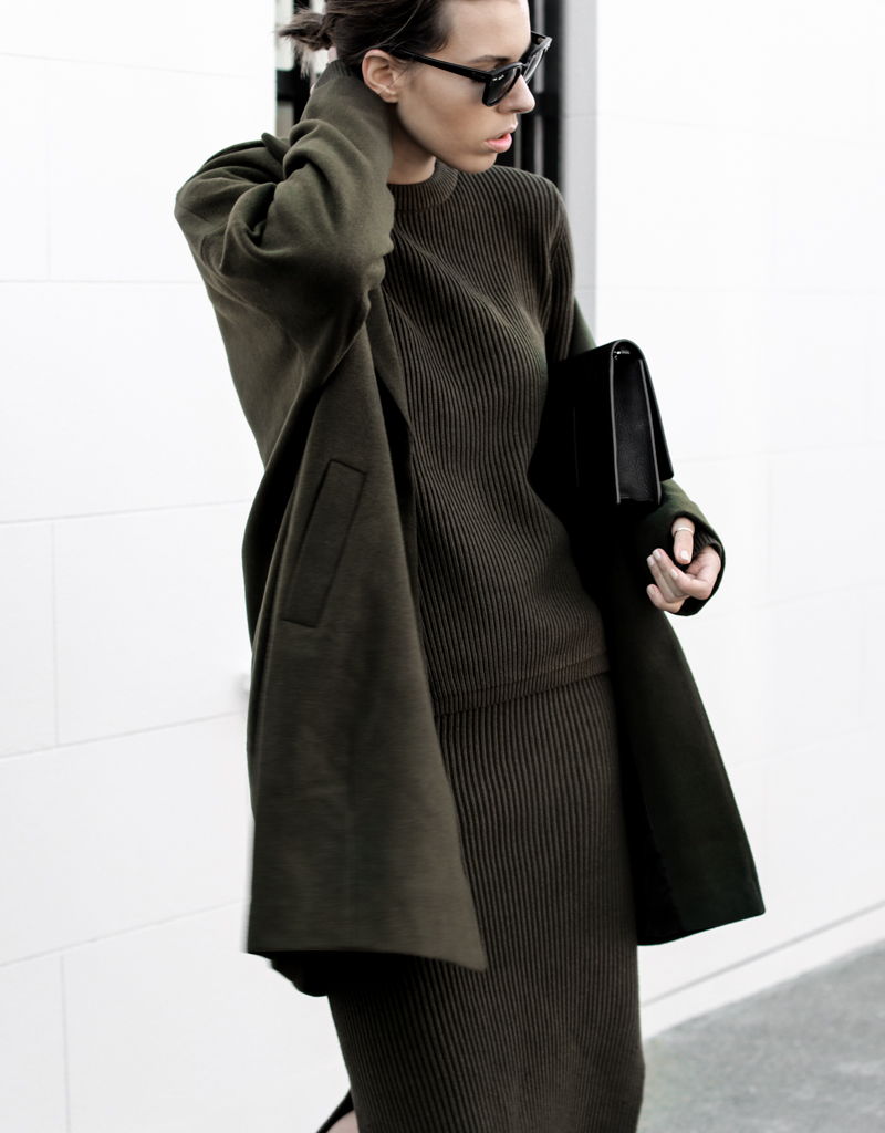 modern legacy, fashion blog, street style, khaki, transseasonal, Bassike, ribbed knit, layers, ASOS coat, details (1 of 1)