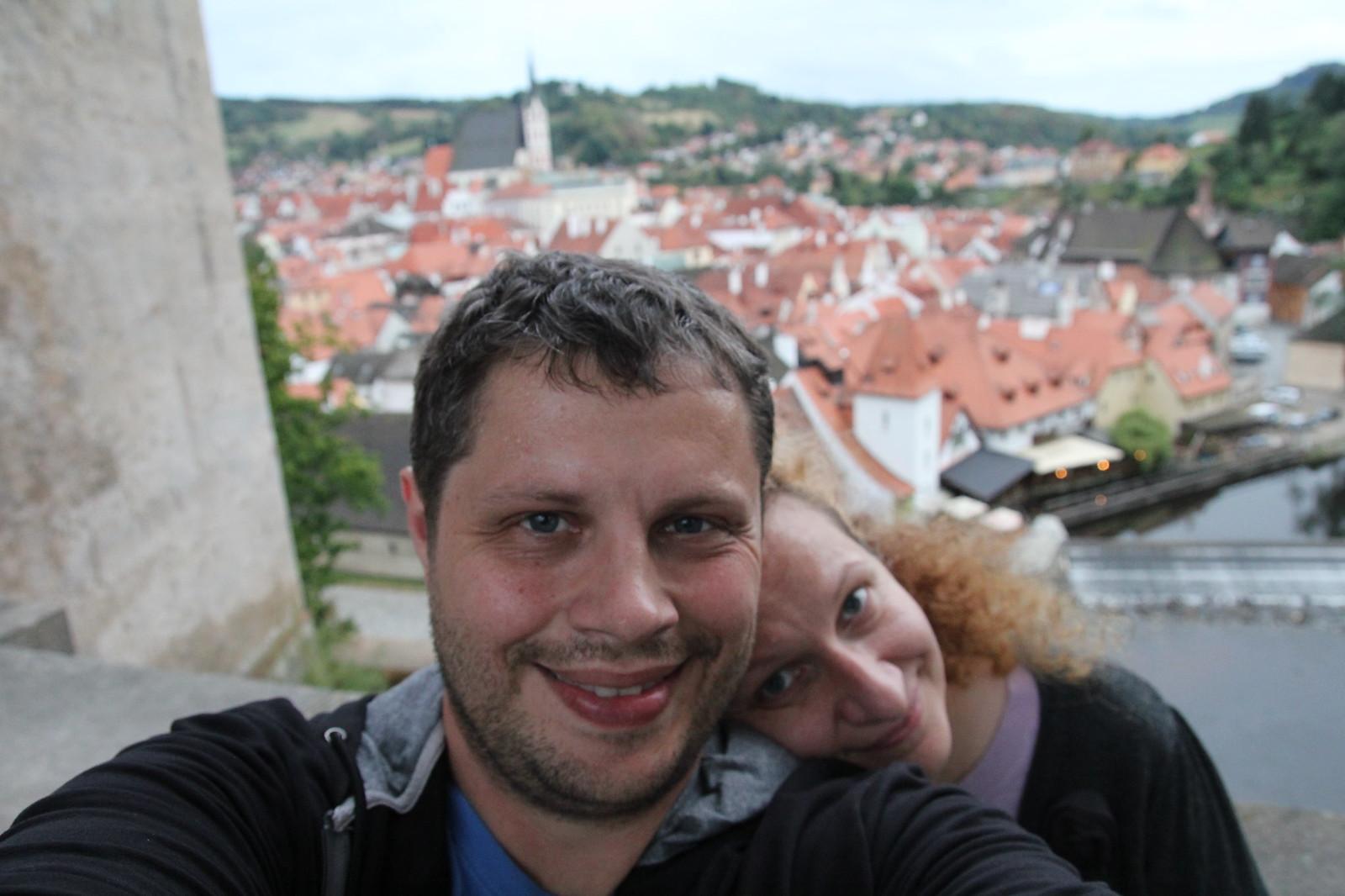 Čia kitas selfis Česky Krumlove