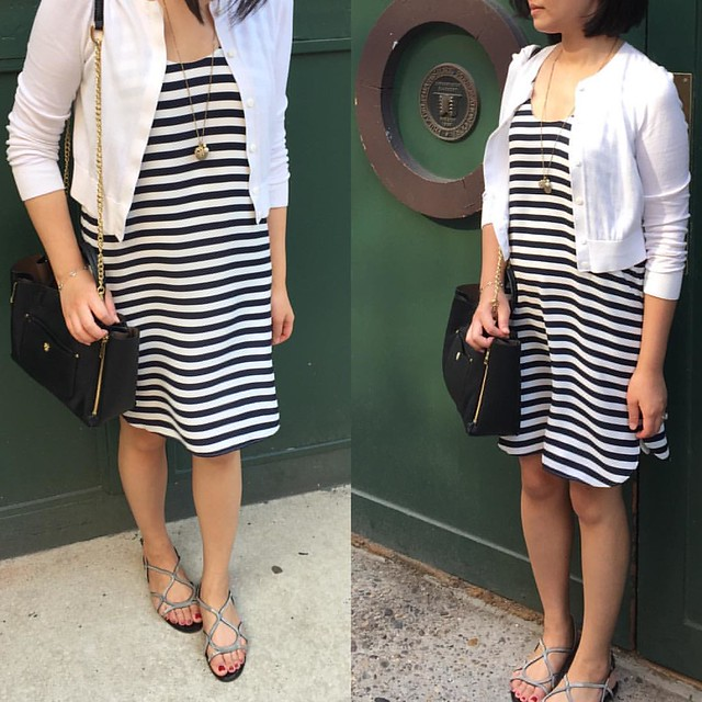 This @loft striped shirttail tank #dress is now $14.94 after discounts! (Note: It's on final sale.) 👯 #ootd | @liketoknow.it www.liketk.it/1IEsB