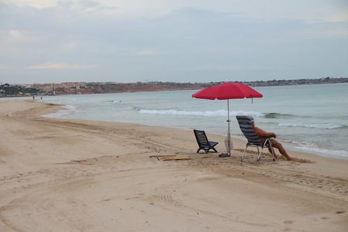 Madrugadores de la Playa de Mil Palmeras