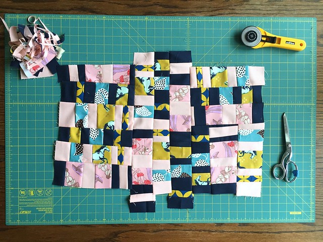 Score #2 Strings inspired by Sherri Lynn Wood's Improv Handbook for Quilters