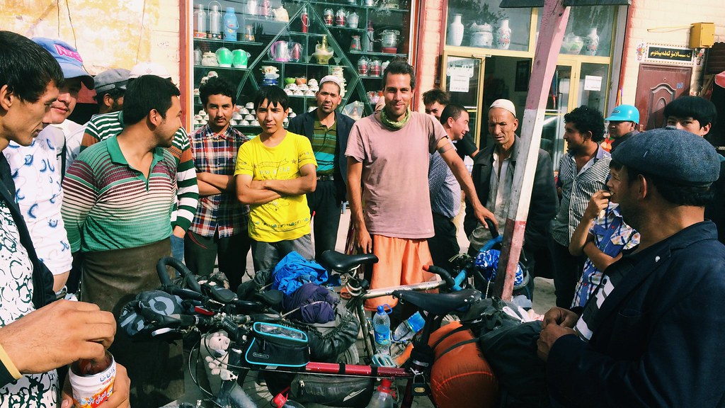People taking an interest in our bicycles