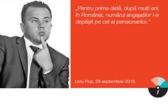 """Liviu Pop: """"Pentru prima dată, după mulți ani, în România, numărul angajaților l-a depășit pe cel al pensionarilor."""""""