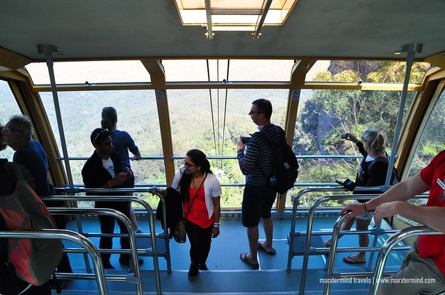 Riding the Scenic Cableway at Scenic World