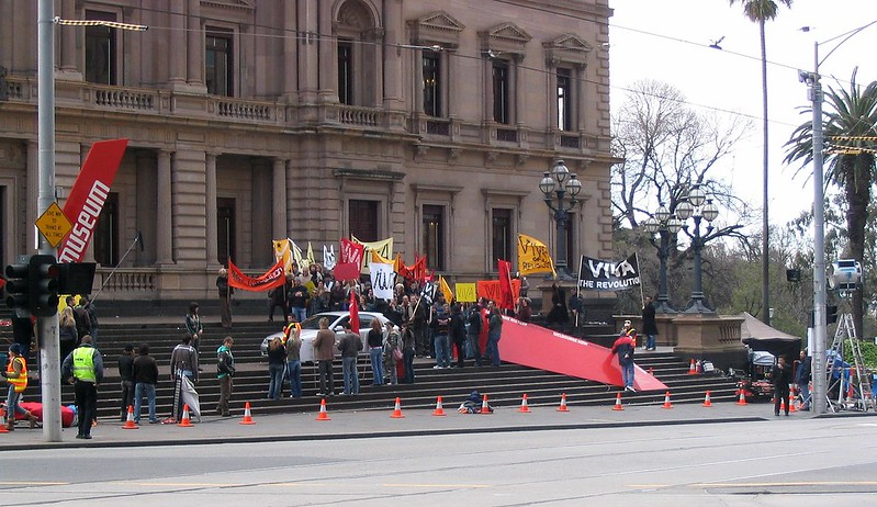 Filming an ad for Holden Viva, Old Treasury building, Melbourne (2005)