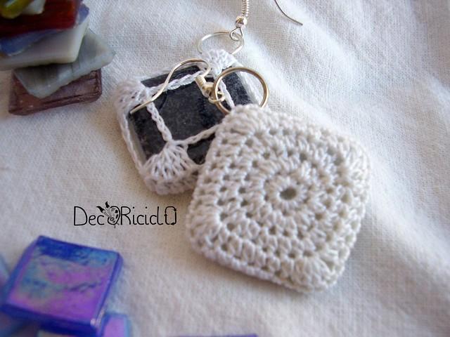 orecchini mosaico e cotone 2