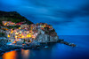 Manarola going blue