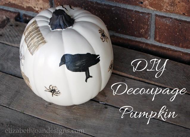 DIY Paper Napkin Decoupage Pumpkin