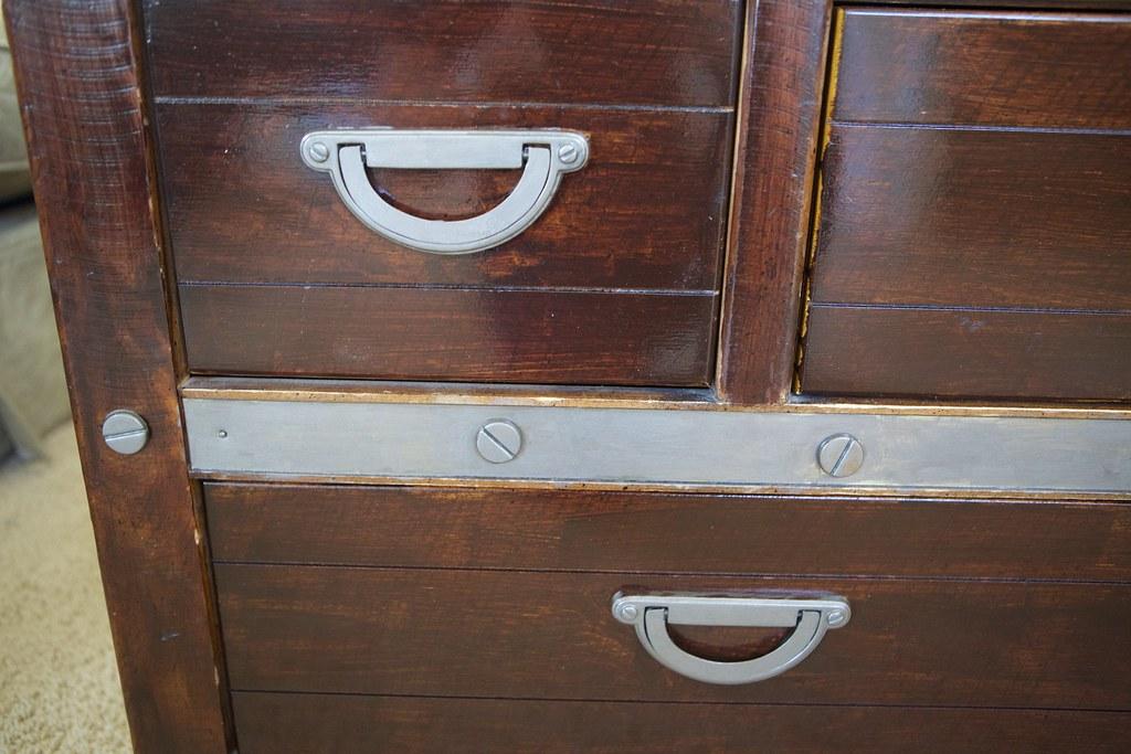 dresser details after makeover