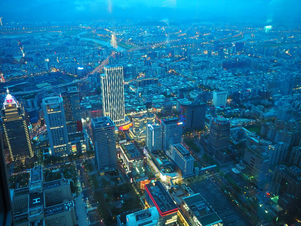 Taipei's Evening viewed from 101