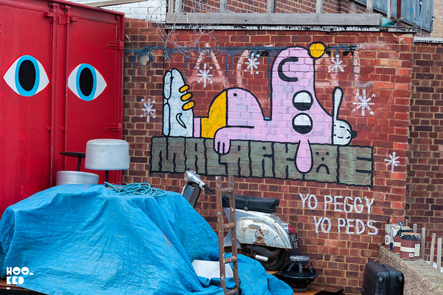 Hitting the Streets of Homerton with street artists Insect, Dscreet, Malarko & David Shillinglaw