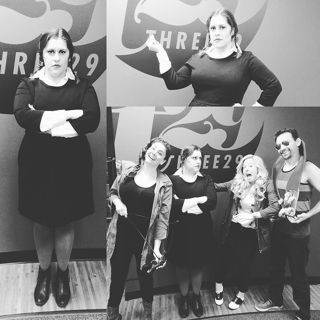 Happy Halloween! #three29 #halloween #halloweencostume #officefun #wednesdayaddams #katnisseverdeen #chickmagnet