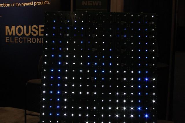 "Blue ""M"" in LEDs"