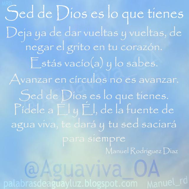 Sed de Dios