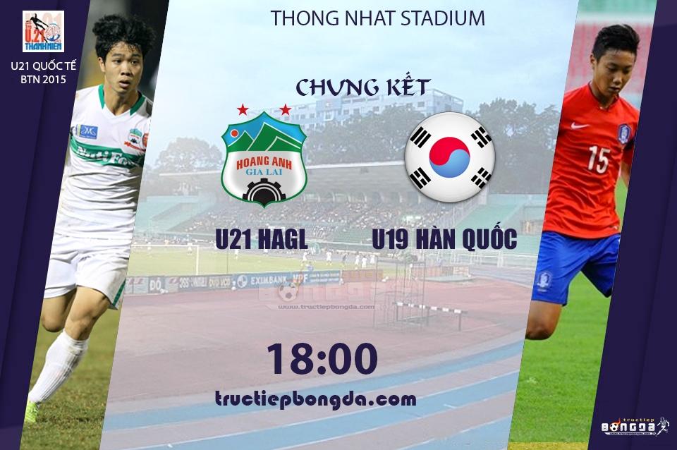 U21 Hoàng Anh Gia Lai vs U19 Hàn Quốc