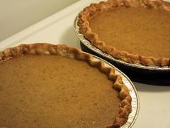 Home-grown Pumpkin Pies