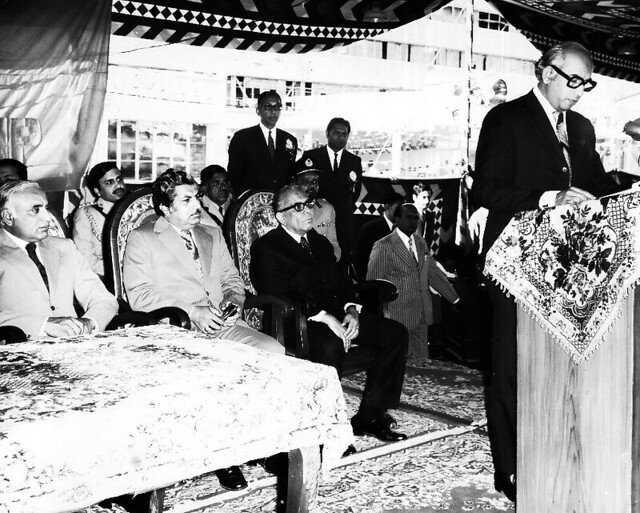 Z A Bhutto addresses the gathering