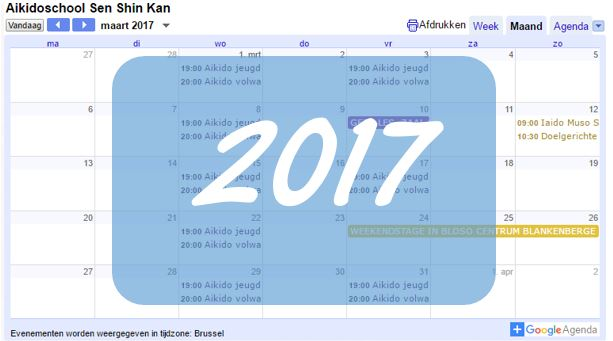 2017 kalender
