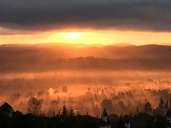 This mornings spectacular unique Sunrise from Upper Las Virgenes trail Summit.