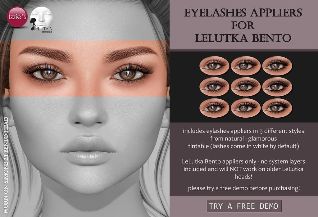 LeLutka Bento Eyelashes - SecondLifeHub.com