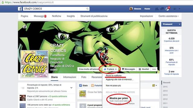 pagina Facebook CrazyComics