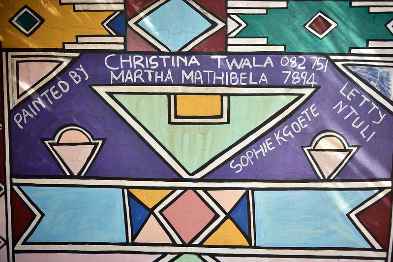 Ndebele village artwork, Mpumalanga, South Africa