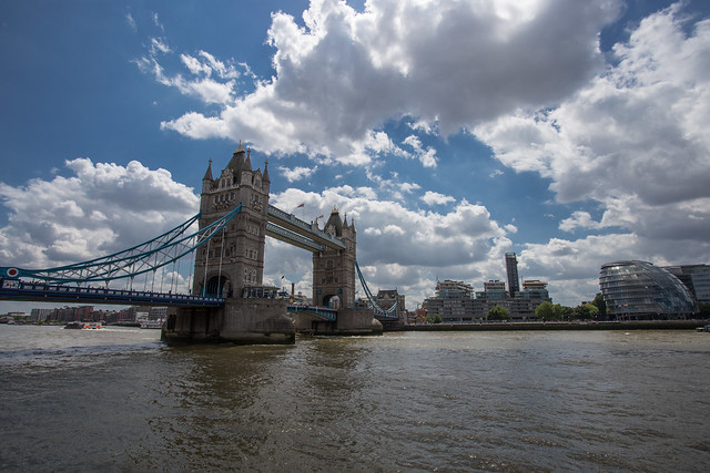 The Tower of London and Tower Bridge