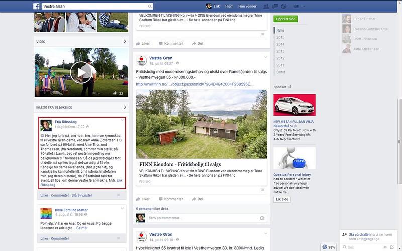 vestre gran facebook