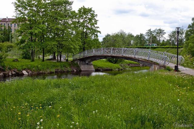 Park. Lososinka river. Petrozavodsk. Russia