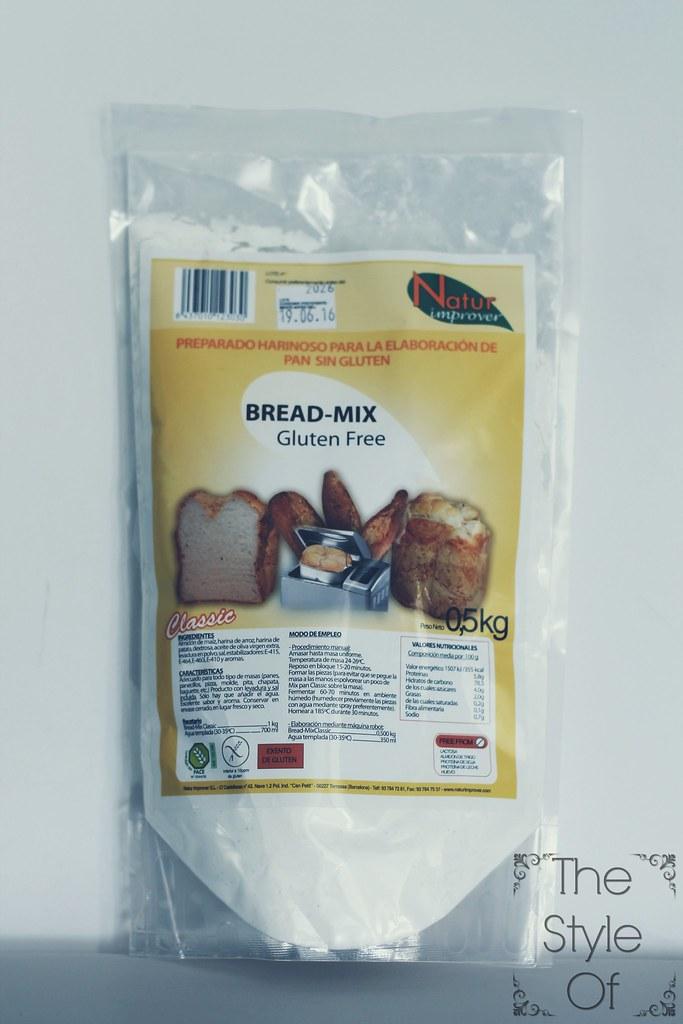 preparado sin gluten pan