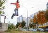 Orange Jump by Trenton Talbot