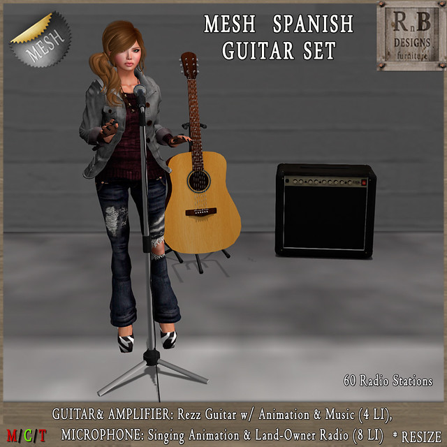 *RnB* Mesh Spanish Guitar, Amplifier & Microphone 2