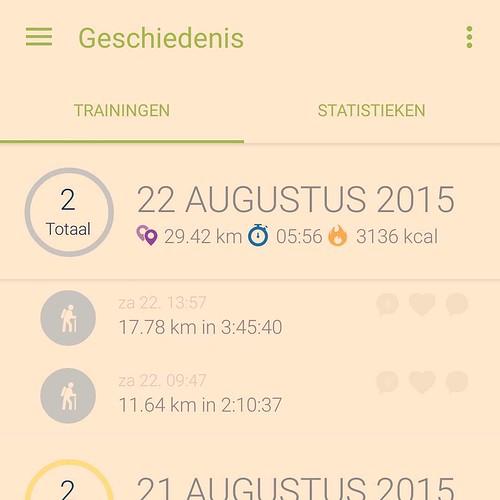 We braken onze records vandaag. #hiking #training #afzien #Ardennen