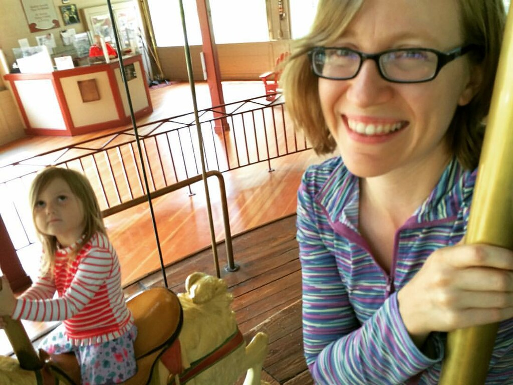 We rode the carousel together :)