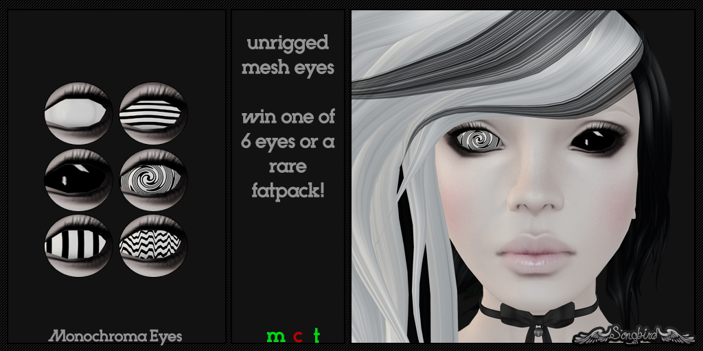 ~SongBird~ Monochroma Eyes Twisted Gacha