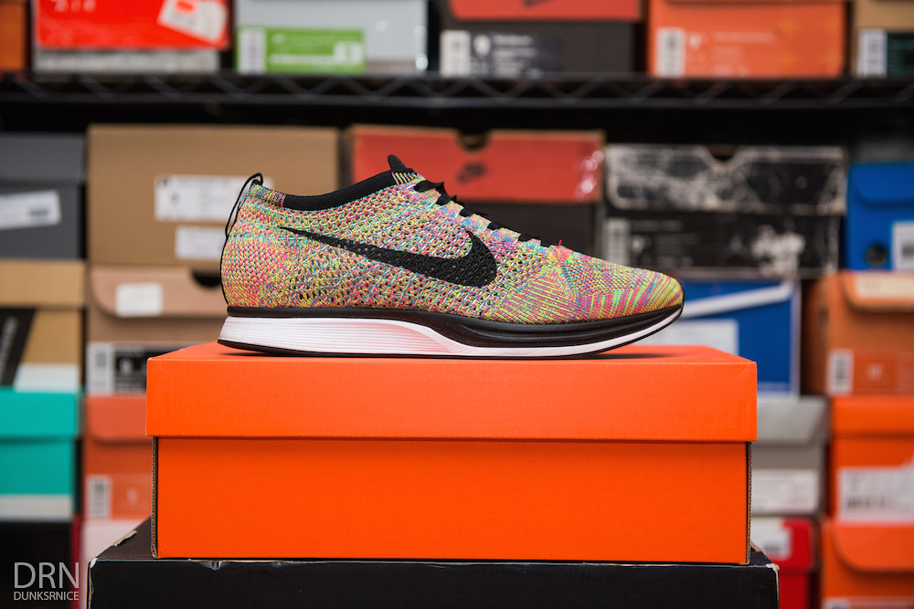 Multi Color Flyknit Racers.