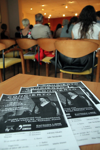 CONCIERTO DEL CURSO DE CANTO LÍRICO IMPARTIDO POR PILAR VÁZQUEZ Y ELISA RAPADO - AUDITORIO CONTRAPUNTO - 11 SEPTIEMBRE´15