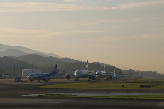 Seven o'clock of Fukuoka Airport