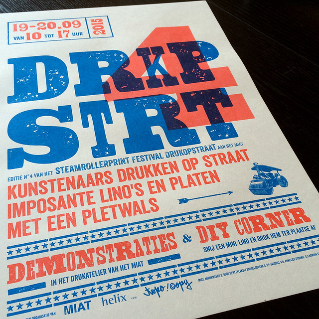 DRUKOPSTRAAT 4 is coming your way! 19-20.09.15 http://typeand.press/new-blog/2015/9/11/drkpstrt-4, Printed by Topo Copy (Riso)