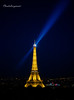 Paris by Night  - The Eiffel Tower by Cloudwhisperer67